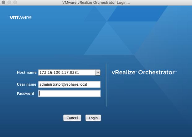 vRO-Client_login